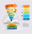 books step education cone infographics vector image