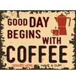 Coffee vintage poster vector image