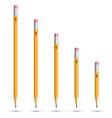 Pencils various length vector image