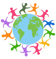 abstract people around the world vector image