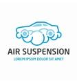Air suspension logo template vector image