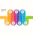 7 steps winding colorful timeline infographic vector image