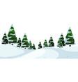 a winter outdoor landscape vector image vector image