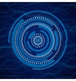 Abstract internet technology blue vector image vector image