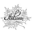 Autumn Calligraphic Lettering vector image