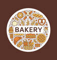 bakery bread house poster template food vector image vector image