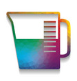 beaker sign colorful icon with bright vector image