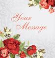 Beautiful greeting card vector image vector image