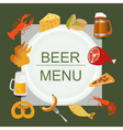 Beer snacks set icons for creating your vector image vector image