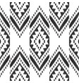 black and white chevron seamless pattern vector image vector image