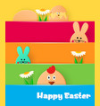 bright greeting card with happy easter easter vector image vector image