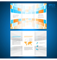 brochure folder leaflet geometric abstract element vector image vector image
