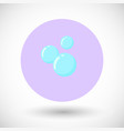 bubble flat icon vector image