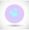 bubble flat icon vector image vector image