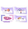 business goals smart technologies hiring social vector image vector image
