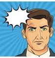 businessman pop art comic design vector image vector image
