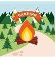 camping trip design vector image vector image