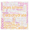 Carbohydrates the Essential Energy Source text vector image vector image