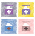 collection of flat shading style icons medical vector image vector image