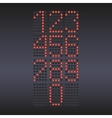 Colorful red LED display with numbers vector image