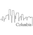 columbia city one line drawing vector image vector image