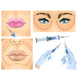 cosmetic surgery concept wrinkle treatment vector image