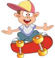 Cute Little Boy Skateboarder vector image vector image
