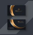dark premium business card template vector image vector image