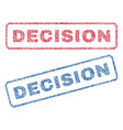 decision textile stamps vector image vector image