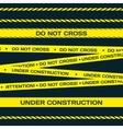 Flat police lines vector image