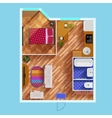 Floor Plan Of One Bedroom Apartment vector image vector image