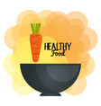 fresh carrots vegetarian food vector image