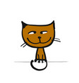 funny kitten sketch for your design vector image vector image