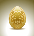 Golden egg with floral decoration vector | Price: 1 Credit (USD $1)