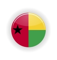Guinea Bissau icon circle vector image vector image