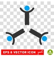 Hands Up Men Round Eps Icon vector image vector image