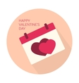 Happy Valentines day collection icon vector image