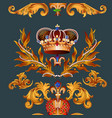 heraldic seamless wallpaper pattern with fleur de vector image