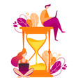 hourglass concept of time vector image