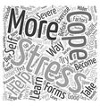 How To Cope With Stress text background wordcloud vector image vector image