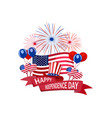 independence day of america congratulatory vector image