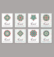 invitation graphic card with mandala decorative vector image
