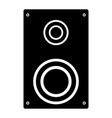 loud speaker the black color icon vector image