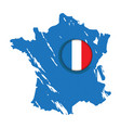map of france with a label vector image vector image