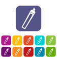marker icons set flat vector image vector image