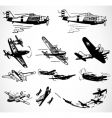 military planes vector image vector image