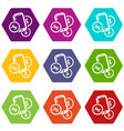 mobile money icons set 9 vector image