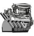 modern car engine isolated on white vector image vector image