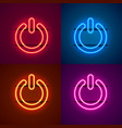 neon off sign color set vector image