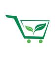 organic market logo icon vector image vector image